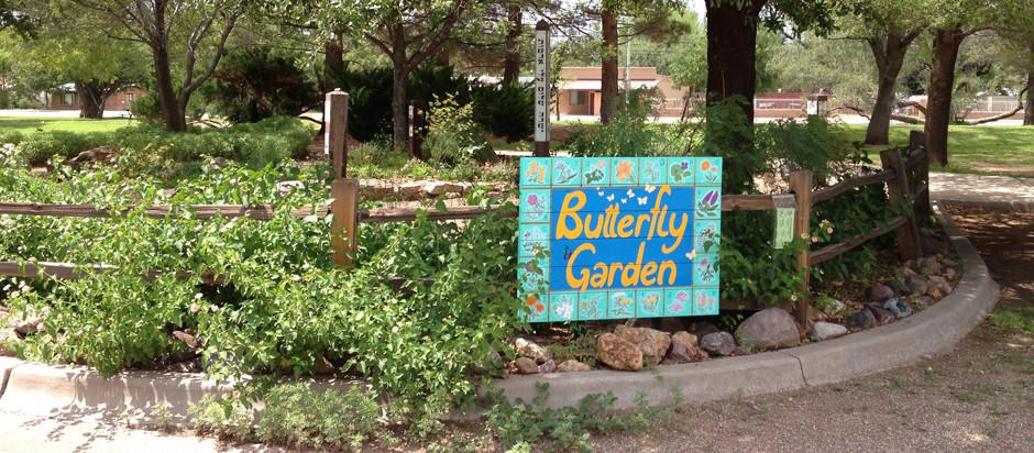 Butterfly garden slide